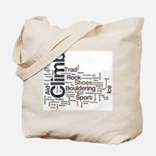 Climbing Words Tote Bag