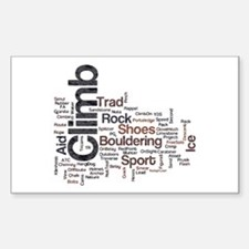 Climbing Words Sticker (Rectangle)