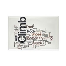 Climbing Words Rectangle Magnet