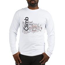 Climbing Words Long Sleeve T-Shirt