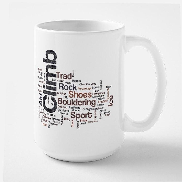 Climbing Words Mug