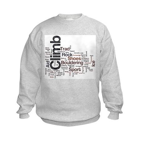 Climbing Words Kids Sweatshirt