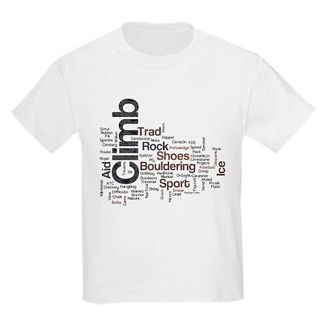 Climbing Words Kids Light T-Shirt
