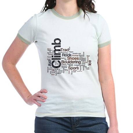 Climbing Words Jr. Ringer T-Shirt