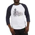 Climbing Words Baseball Jersey