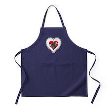 Possum Valentines Day Heart Apron (dark)