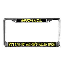 HI Biting Buffon's Macaw License Plate Frame