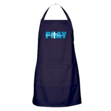 Real Men Pray - Lt Blue Apron (dark)