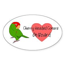 Cherry Headed Conure OB Oval Decal