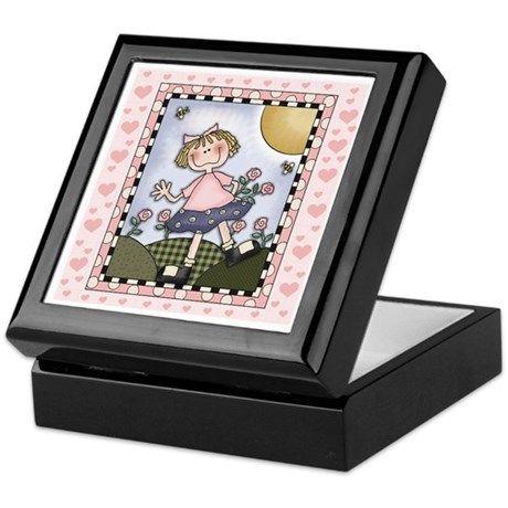 Girl Jewelry and Trinket Keepsake Box