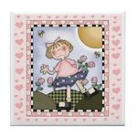 Girl Keepsake Tile Coaster