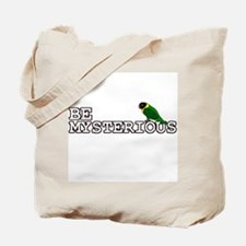 Be Mysterious - Black Masked Lovebird Tote Bag
