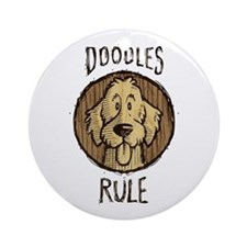 Doodles Rule Ornament (Round)
