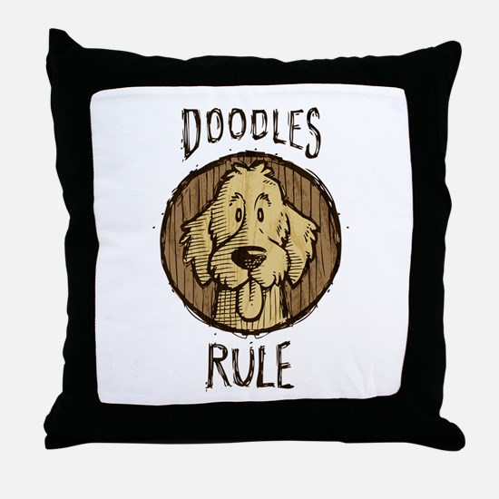 Doodles Rule Throw Pillow