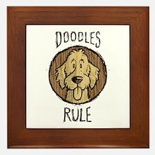 Doodles Rule Framed Tile