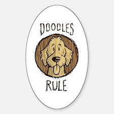 Doodles Rule Sticker (Oval)