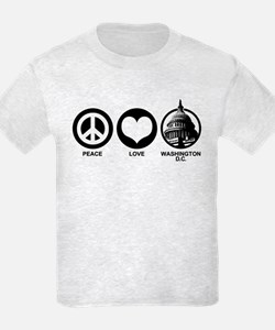 Peace Love Washington D.C. T-Shirt