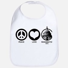 Peace Love Washington D.C. Bib