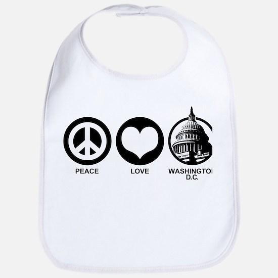 Peace Love Washington D.C. Bib