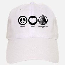 Peace Love Washington D.C. Baseball Baseball Cap
