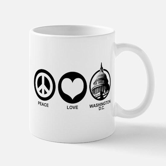 Peace Love Washington D.C. Mug