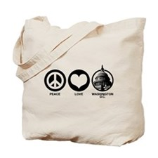 Peace Love Washington D.C. Tote Bag