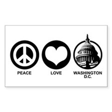 Peace Love Washington D.C. Decal
