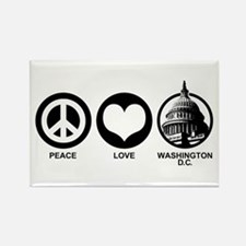 Peace Love Washington D.C. Rectangle Magnet