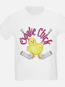 Goalie Chick Kids T-Shirt