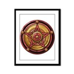 Red Pentacle w/gold Framed Panel Print
