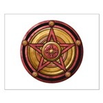 Red Pentacle w/gold Small Poster