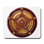 Red Pentacle w/gold Mousepad