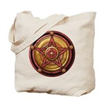 Red Pentacle w/gold Tote Bag