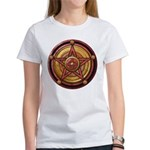 Red Pentacle w/gold Women's T-Shirt