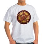Red Pentacle w/gold Light T-Shirt