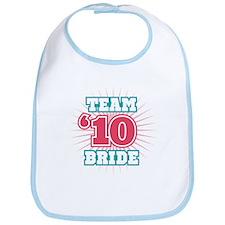 Turquoise 10 Team Bride Bib