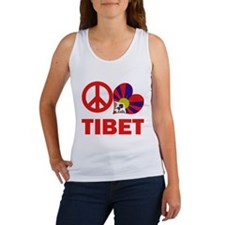 Peace Love Tibet Women's Tank Top