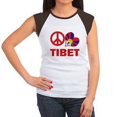Peace Love Tibet Women's Cap Sleeve T-Shirt