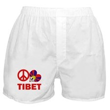 Peace Love Tibet Boxer Shorts