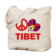 Peace Love Tibet Tote Bag