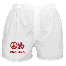 Peace Love England Boxer Shorts