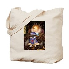 Queen Elizabeth I and Sir Pug Tote Bag