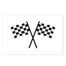 Racing flags Postcards (Package of 8)