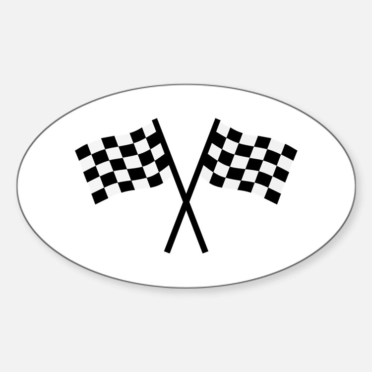 Racing flags Sticker (Oval)