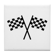 Racing flags Tile Coaster