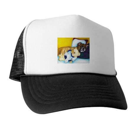 Boxer and Teddy Trucker Hat