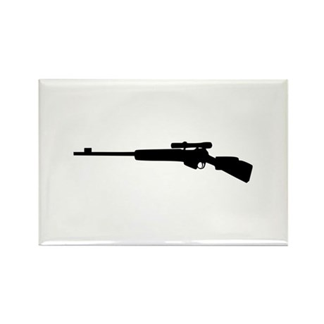 Rifle Rectangle Magnet (10 pack)