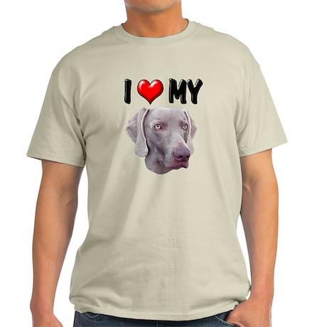 I Love My Weimer Light T-Shirt