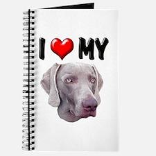 I Love My Weimer Journal