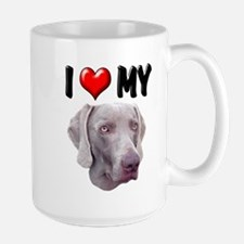 I Love My Weimer Mug